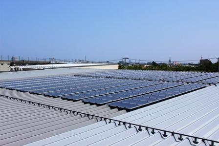 設置した太陽パネル